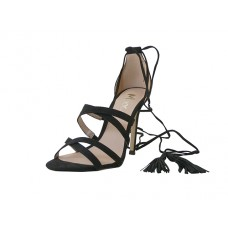 "FANNY-01-BK Wholesale women's ""Mixx shuz"" High Heel Ankle Strip Sandal ( *Black Color )"