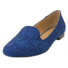 "GLOREA-NAVY Wholesale Women's ""Angeles Shoes"" Ballet Flat Shoes ( *Navy Color ) *Close Out $3.00/Pr Case $24.00 *Last 3 Cases"