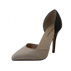 "IBBIE-BEIGE Wholesale Women's ""Angeles Shoes"" Hi-Heel Sandal (*Beige/Black 2 Tone Color )"