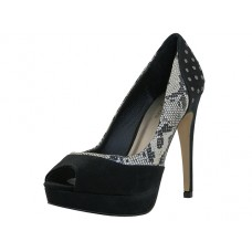 "ILIANA-SNAKE Wholesale Women's ""Angeles Shoes"" Hi-Heel Pump ( *Black/Snake Print ) *Last 4 Case"
