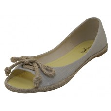 "ISLA-BEIGE Wholesale Womrn's ""Anheles Shoes"" Jute Shoes ( *Beige Color ) *Last 4 Case"