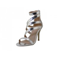 "IVY-01-S Wholesale Women's ""Mixx Shuz"" High Heel Ankle Strap Sandals ( *Silver Color )"