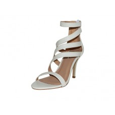 "IVY-01-W - Wholesale Women's ""Mixx Shuz"" High Heel Ankle Strap Sandals ( *White Color )  *Last Case"