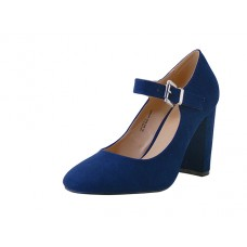 "KAITLYN-01-NAVY Wholesale Women's ""Mixx Shuz"" High Heel Mary janes Shoe ( *Navy Color ) *Last Case"