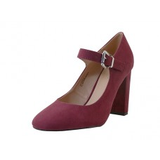 "KAITLYN-01-WINE Wholesale Women's ""Mixx Shuz"" High Heel Mary janes Shoe ( *Wine Color ) *Last Case"