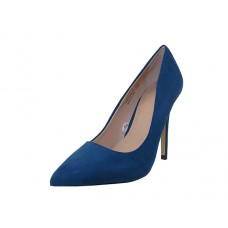 "KAYLA-02-NAVY - Wholesale Women's Micro Fiber  ""Mixx Shuz"" High Heel Pump Bride Shoe  ( *Navy color )"