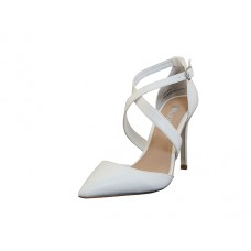 "KAYLA-05-W Wholesale Women's ""Mixx Shuz"" High Heel Ankle Strip Bride Shoes  ( *White Color )"