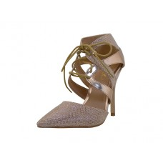"KITTY-01 Wholesale Women's ""Mixxshuz"" Hi-Heel Angle Strip Sandals ( *Rose Gold Color ) *Last 2 Case"