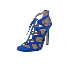 "LEXI-01-BLUE Wholesale Women's ""Mixx Shuz"" High Heel Gladiator Strip Sandals ( *Blue Color )"