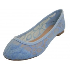 "LIZ-03 Wholesale Women's ""Angeles Shoes"" Satin Lace Upper Ballet Shoes ( *Light Blue Color )  *Close Out $3.00/Pr Case $36.00 *Last Case"