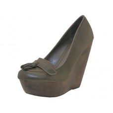 "LOLA-TAUPE Wholesale Women's ""Angeles Shoes"" High Platform Wedge ( *Taupe Color ) *Last 2 Case"