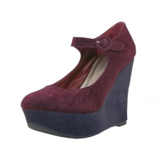 "LOLITA-BURGUNDY Wholesale Women's ""Angeles Shoes"" High Platform Wedge (*Burgundy Color ) *Last 4 Case"