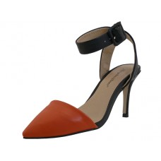 "LORIS-ORANGE Wholesale Women's ""Angeles Shoes"" Ankle High Heel Triangle Close Toe Sandals ( *Orange Color )"