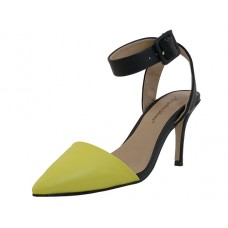 "LORIS-Y Wholesale Women's ""Angeles Shoes"" Ankle High Heel Triangle Close Toe Sandals ( *Yellow Color )  *Last 3 Case"