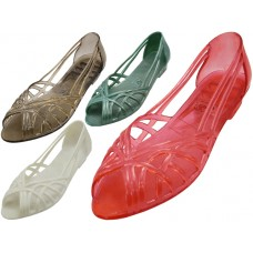 MX-005 - Wholesale Women's Jelly Sandals *Asst. Color  (Closeout $1.25/Pr. Case $45.00)