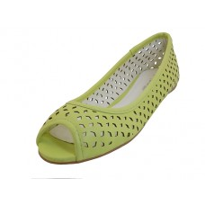 MARIE-03-LIME Wholesale Women's Open Toe Flat Ballet Flats ( *Lime Color ) *Close Our $3.00/Pr Case $36.00 *Last 2 Case