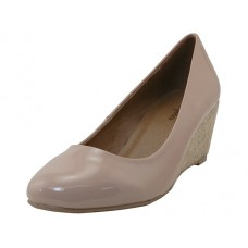 "MARY-NUDE - Wholesale Women's ""Angeles Shoe"" Wedge Heel Pump ( *Nude Color ) *Last 3 Case"