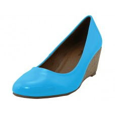 "MARY-Turquoise - Wholesale Women's ""Angeles Shoe"" Wedge Heel Pump ( *Turquoise Color ) *Last 2 Case"