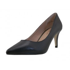 "MERIDA-02 BLACK - Wholesale (Mixx Chuz) Women 2½"" Heel Pump (*Black Pu. ) *Last 2 Case"