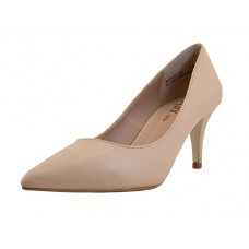 "MERIDA-02 NUDE - Wholesale (Mixx Chuz) Women 2½"" Heel Pump (*Nude PU) *Last 3 case"