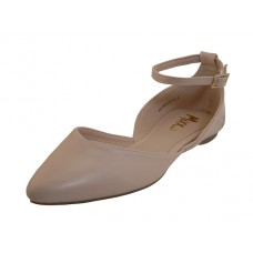 MICHELLE-01-NUDE Wholesale Women's Ballet Flat With Ankle Strip ( *Nude Print ) *Last 2 Case