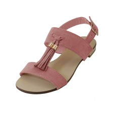 "MINCE-01-MAUVE - Wholesale Women's ""Mixx Shuz"" Strap Upper With Tassel Flat Sandal ( *Mauve Color ) *Last 5 Case"