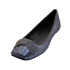 "MINIE-PEWTER Wholesael Women's ""Angeles Shoes"" Flat Ballet With Bow Tie Shoe ( *Pewter Color ) *Last Case"