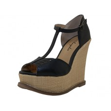 "NEVAEH-B Wholesale Women's ""Angeles Shoes"" High Platform Sandals ( *Black Color )"