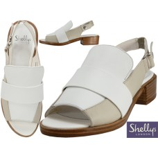 "NIHILL-70 - Wholesale Women's ""Shelly's London"" Leather Upper Loafer ( *White Color )"