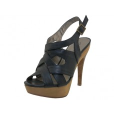 "OLIVIA-BK - Wholesale Women's ""Angeles Shoes"" High Heel With Ankle Strip Sandals ( *Black Color ) *Last 2 Case"