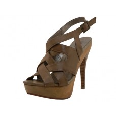 "OLIVIA-NATURAL - Wholesale Women's ""Angeles Shoes"" High Heel With Ankle Strip Sandals ( *Natural Color ) *Last Case"
