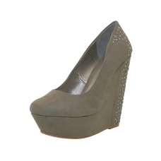 "ORLA-TAUPE Wholesale Women's ""Angeles Shoes"" Hi-Platform Wedge ( *Taupe Color ) * Last 4 Case"