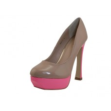 "PRETTY-NUDE - Wholesale Women's ""Mixx Shuz"" High Heel Pump Bride Shoe  ( *Nude/Fuchsia 2 Tone Color ) *Last 5 case"