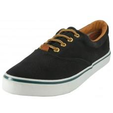 Q999L-B Wholesale Women's Lace Up Casual Canvas Shoes ( *Black Color )