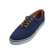 Q999L-N Wholesale Women's Casual Canvas Shoe With Shoe Lace ( *Navy Color ) *Last Case