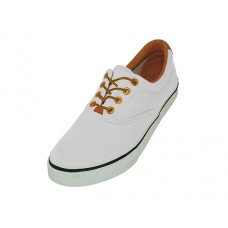 Q999L-W Wholesale Women's Lace Up Casual Canvas Shoes ( *White Color ) *Close out $3.00/Pr. Case $72.00
