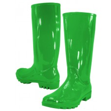 "RB-010-V Wholesale Women's ""EasyUSA"" 13½ Inches Water Proof Soft Rubber Rain Boots ( *Green Color )"