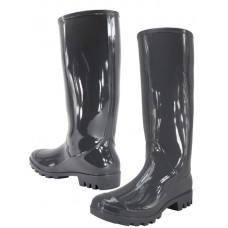 "RB-010-G Wholesale Women's ""EasyUSA"" 13½ Inches Water Proof Soft Rubber Rain Boots ( *Gray Color )"