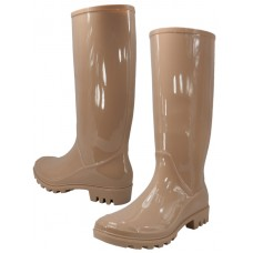 "RB-010-C Wholesale Women's ""EasyUSA"" 13½ Inches Water Proof Soft Rubber Rain Boots ( *Nude Color )"