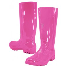 RB-010-F Wholesale Women's 13/5 Inches Water Proof Rubber Rain Boots ( *Fuchsia Color )