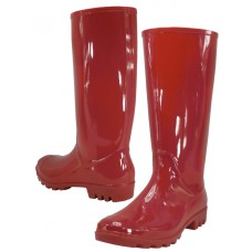 RB-010-R Wholesale Women's 13.5 Inches Water Proof Rubber Rain Boots ( *Red Color )