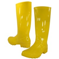 RB-010-Y Wholesael Women's 13.5 Inches Water Proof Rubber Rain Boots ( *Yellow Color )