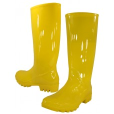 "RB-010-Y Wholesael Women's :EasyUSA"" 13½ Inches Water Proof Soft Rubber Rain Boots ( *Yellow Color )"