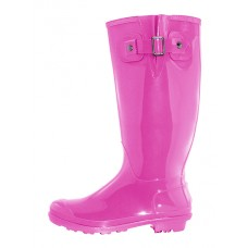 "RB-020-F Wholesale Women's ""EasyUSA"" 15.5 Inches Water Proof With Buckle Soft Rubber Rain Boots ( *Fuchsia Color )"