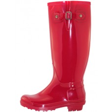 RB-020L-R  Wholesale Women 15.5 Inches Water Proof Rain Boots ( *Red Color )