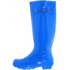 "RB-020-Royal Wholesael Women's ""EasyUSA"" 15.5 Inches Water Proof With Buckle Soft Rubber Rain Boots ( *Royal Blue Color )"