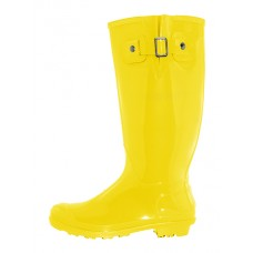 "RB-020-Y Wholesale Women's ""EasyUSA"" 15.5 Inches Water Proof With Buckle Soft Rubber Rain Boots ( *Yellow Color )"