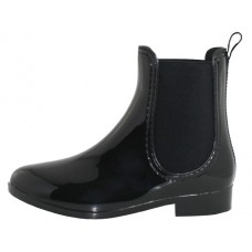"RB-86-BB Wholesale Women's ""EasyUSA"" 6½ Inches Ankle Height Water Proof Soft Rubber Rain Boots ( *Black Color )"