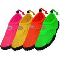 """S1155L-A - Wholesale Women's  """"Wave"""" Water Shoes ( *Asst. Neon Color )"""