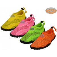 "S1155L-A - Wholesale Women's  ""Wave"" Water Shoes ( *Asst. Neon Color )"